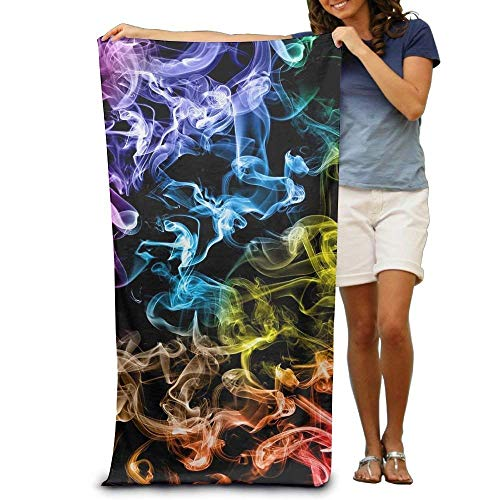 sd4r5y3hg Bath Towel Microfiber, Bath Towels Colored Smoke Colorful Towel Cotton Super Soft and Water Absorption 31\
