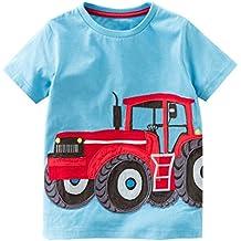 Zolimx Ropa de Bebé Niño Niñas Camisetas de Manga Corta Blusa de Camiseta de Impresión de Dibujos Animados Tractor