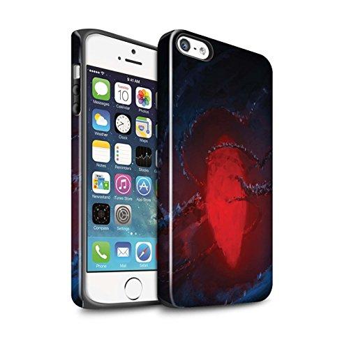 Offiziell Chris Cold Hülle / Glanz Harten Stoßfest Case für Apple iPhone SE / Pack 12pcs Muster / Fremden Welt Kosmos Kollektion Einfrieren