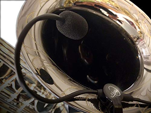 CONN-O-SAX SAXOPHON MIKROFON,'THE FEATHER' mit flexiblem MICRO-GOOSE NECK von Myers Pickups ~ Sehen Sie es in Aktion! Kopieren und Einfügen: myerspickups.com, Conn-O-Sax Saxophon-Mikrofon