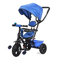 Surreal 4 In 1 Easy Tricycle Kids Trike With Rotating Seat & Rubber Tyres