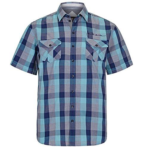 Fett Streifen-baumwoll-shirt (Jan Vanderstorm Herren Kurzarmhemd rigobert in Übergröße Große Größen Plus Size Big Size XL XXL XXXL 4XL 5XL 6XL 7XL 8XL 9XL 10XL)