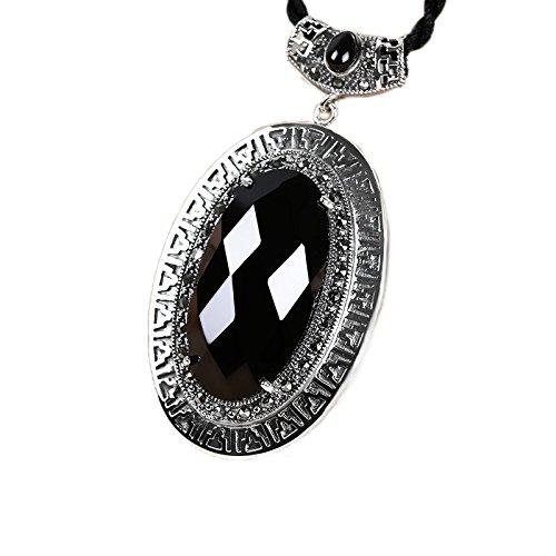 ge 925 Sterling Silber Jade Halskette Anhänger Schlüsselbein Kette Für Frauen Geschenk Party Täglich Casual Kostüm Schmuck Zubehör (Thailand Kostüm Für Mädchen)