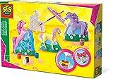 SES Creative 01356 Gipsfiguren Pferde, gelb