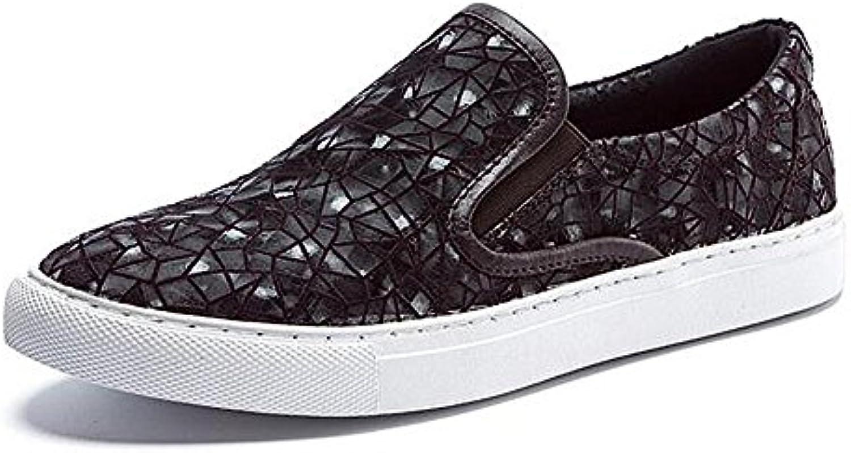 les hommes de façon occasionnelle occasionnelle occasionnelle des chaussures robe toile glisse sur la personnalité noire b075lrd67k parent 21a438