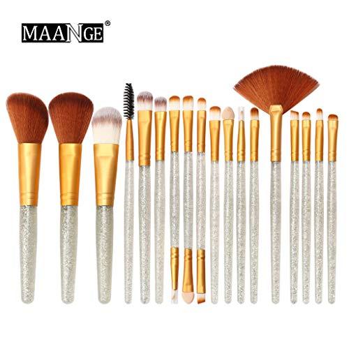 Buimin Pinceaux Maquillages Professionnels Kit de paillettes de teint outils trousse de toilette Pinceaux Glitter Set blush supérieure pour (Taille unique, A)