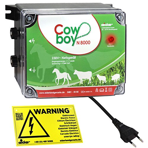*Weidezaungerät Eider Cowboy N8000 l Optimal für Pferde l Made in Germany – Unser Bestseller zum Spitzenpreis*