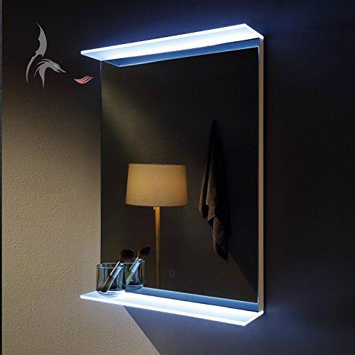 TOP AKTION FRÜHLING ! LED Badspiegel, Aalen 50x70cm, LED beleuchtete Glasablagen, Badspiegel mit Licht, Energieklasse A+