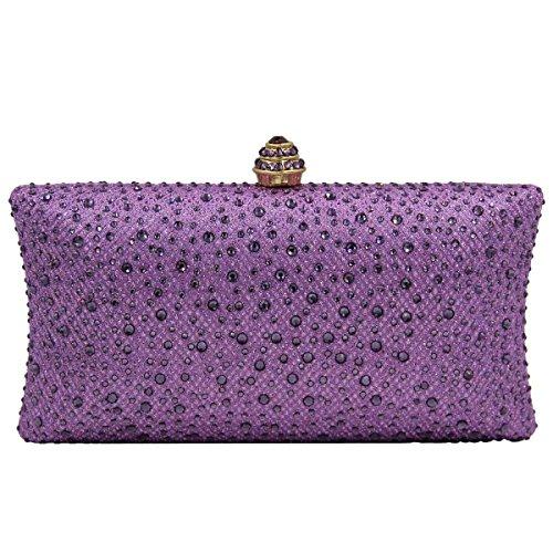 High-end Bag Da Sera Del Vestito Di Diamanti Da Sposa Della Borsa Della Borsa Delle Donne Purple