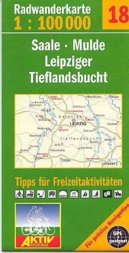 Fahrradkarte Radkarte Saale Mulde und Leipziger Tieflandsbucht 1:100.000