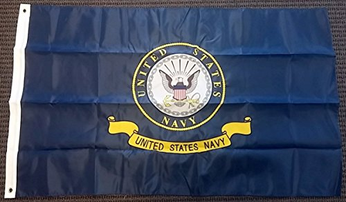 RFCO United States Navy Logo Double Sided Nylon Embroidered 3x5 Foot Flag Banner US -