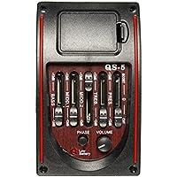 5-Band-Eq Equalizer Tuner Piezo Pickup Akustikgitarre Pre Wired Preamp Prener \ Musical Zubehör Stuff Part-Werkzeug-Gerät Instrument Spielen Erweiterte Getriebe Equipment Supplies