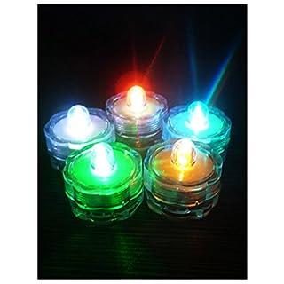 Aistuo 10Stück Teelichter/Tauchfähig, batteriebetrieben Wasserdicht LED Kerze Lampe Mehrfarbig