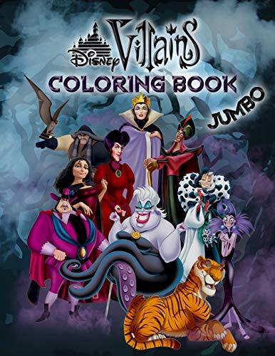 Disney Villains Coloring Book: Disney Villains Jumbo Coloring Book For Kids Ages 3-8 (Kids Disney Villains)