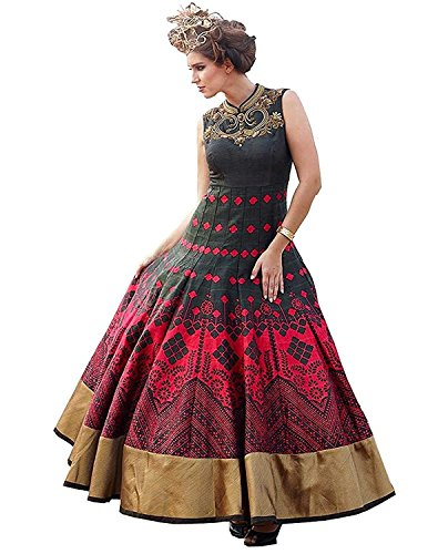 Kurti (Way For Fashion Women\'s Long Anarkali Heavy Cotton Silk Kurti)
