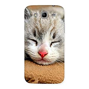 Enticing Sleeping Cat Multicolor Back Case Cover for Galaxy Mega 5.8