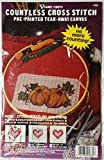 Harvest Pumpkins Countless Cross Stitch Pre-printed Tear-away Canvas