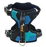 Yammucha Hundegeschirr Kein Pull Dog Harness Front Range Hundegeschirr Für Outdoor-Walking (Color : Blue, Size : XL)