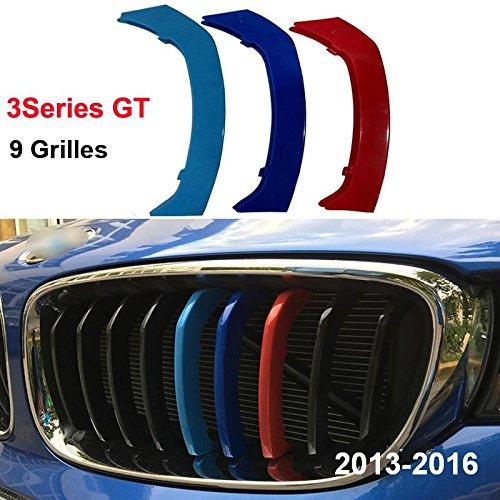 Preisvergleich Produktbild B M W 3 Serie GT 2013 - 2017 9 Grill Strand M Power M Sport Tech Motorhaube Kapuze Nieren Kühlergrill Grill Trim Schnalle Clip in fügt Stripe Streifen Cover Decor 3 Farben