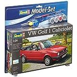 Revell Modellbausatz Auto 1:24 - Volkswagen VW Golf 1 Cabriolet im Maßstab 1:24, Level 4, originalgetreue Nachbildung mit vielen Details, , Model Set mit Basiszubehör, 67071