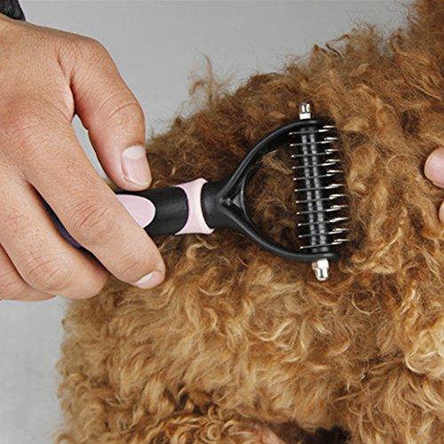 Cepillo de Limpieza para Perros y Gatos - MIRX útil cepillo para mascotas multifuncional- Para Nudos y Enredos en Perros y Gatos Pequeños, Medianos y Grandes que tienen desde Cabello Corto hasta Largo
