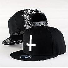 Gorra con visera plana y cierre a presión trasero, diseño punk en 3D, estilo hip-hop, unisex, L3, head circumference 54-59cm