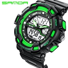 9fd5a11aae4 sanda Men Watches Men s Quartz Hour Analog Digital LED Sports Watch Men  Army Military Wrist Watch