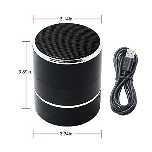 Spy Cam, HD Mini Telecamera Nascosta Spia WIFI Bluetooth Speaker TANGMI Microcamera Nanny 1080P 180° Pan Rotation Obiettivo della Fotocamera Sorveglianza di Sicurezza Domestica - 3
