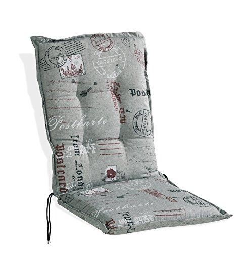 Sesselauflage Sitzpolster Gartenstuhlauflage für Mittellehner POSTCARD 5 | 50x110 cm | Anthrazit