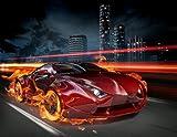 Fototapete / Tapete / Design Tapete 'Auto / Rennwagen ' Kinderzimmer B279cm x H260cm