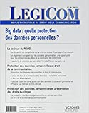 Legicom N 59. Big Data, Quelle Protection des Donnees Personnelles ?-T1...
