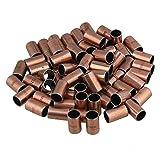 Yibuy - 200 cojinetes autolubricantes chapados en cobre de acero de carbono