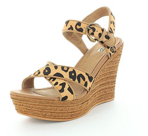 Ugg Australia Jazmine Calf hair Leopard Keil Sandale Leoprint