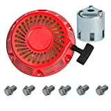 OxoxO Replace Recoil Starter with Starter Cup for HONDA GX340 GX390 11HP 13HP Engine Motor Parts + 6pcs Recoil Starter Bolt