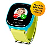 XPLORA-Telefonuhr für Kinder, Inklusive 12 Monate Telefonie, Internet und XPLORA-Dienste (Nur FÜR KUNDEN in Deutschland) … (Blau)