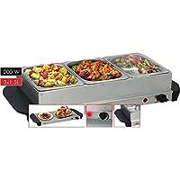 Cuisinier Deluxe 2 in 1 RVS Buffetwarmer 200W (3x1.5L)