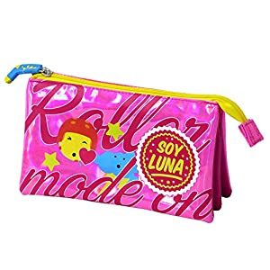 Soy Luna Portatodo Triple, Color Rosa Brillante (Toy Bags 015)