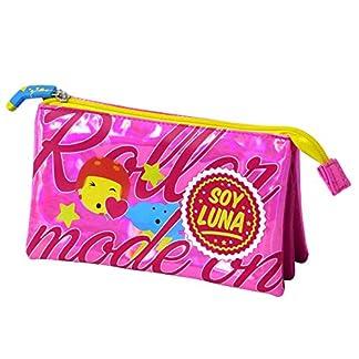 Soy Luna – Portatodo triple, color rosa brillante (Toy Bags 015)