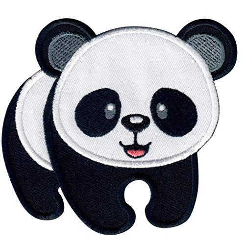 PatchMommy Panda Bär Patch Aufnäher Applikation Bügelbild - zum Aufbügeln oder Aufnähen - für Kinder/Baby