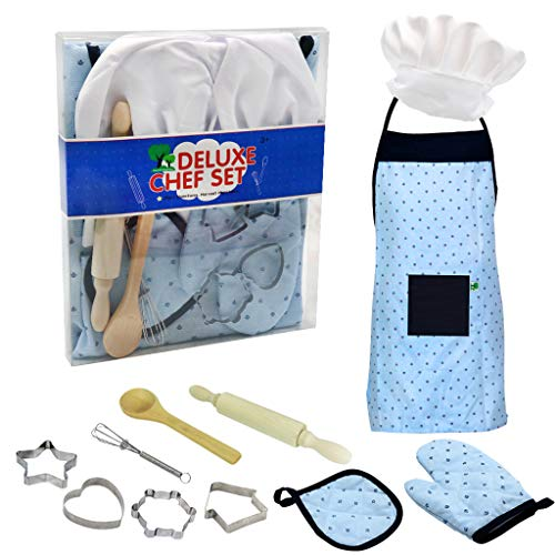 er Kochen Und Backen Set Küche Kostüm Pretend Rollenspiel Kit Schürze Hut Küche Spielzeug Spielset Geschenke Pädagogisches Spielzeug Kinder ()
