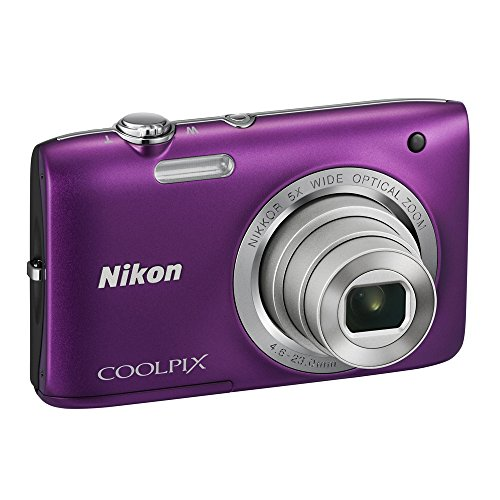 Nikon Coolpix S2800 20. 1 MP Point and Shoot Digital Camera with 5x Optical Zoom (Purple) International Version No Warranty  available at amazon for Rs.29278