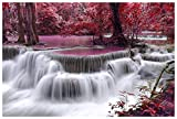 #9: Wall Poster waterfall river Large Size (PVC Vinyl, Wall Covering Area 36 Inch x 24 Inch)