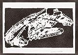Millennium Falcon STAR WARS Poster Plakat Handmade Graffiti Street Art - Artwork