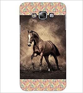 Printdhaba Horse D-4629 Back Case Cover For Samsung Galaxy A8