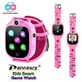 Prograce Kids Smart Watch Digital Camera Watch with Games, Music Player, Pedometer Step Count, FM Radios, Flashlights and 1.5 inch Touch LCD for Boys Girls Birthday