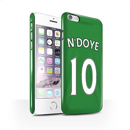 Offiziell Sunderland AFC Hülle / Glanz Snap-On Case für Apple iPhone 6 / Pack 24pcs Muster / SAFC Trikot Away 15/16 Kollektion N'Doye