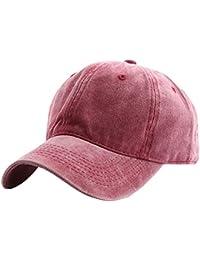 AIEOE Sombrero Béisbol Cap con Visera Protección del Sol Ajustable  Transpirable Old School para Hombre Mujer a3af079099b