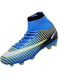 b05336b9e Sunny Holiday Kids Football Boots Boys Astro Turf Girls fg ag sg 4g tf 3g  tf -Junior Overpowered Black Blue…