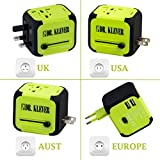Worldwide Travel Adaptor, International Travel Adapter Comes With 2 USB Ports, 4 Plug Types, Comes with Travel Bag, Works in 170 Countries. The Perfect Travel Adaptor
