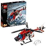 LEGO Technic ElicotterodiSalvataggio, Velivolo di Soccorso Giocattolo 2 in 1,Set da Costruzione per Bambini e Bambine dagli 8 Anni in su, 42092 LEGO